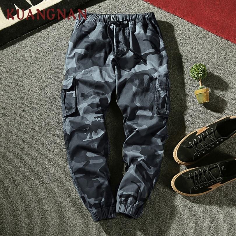 KUANGNAN Trousers Men Pants Japanese Streetwear New 4XL Hip-Hop