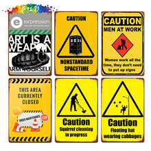 Moura color Warning  Metal Signs Tin Poster Caution Danger No Smoking Wall Art Painting Advertising Board Vintage Home Decor