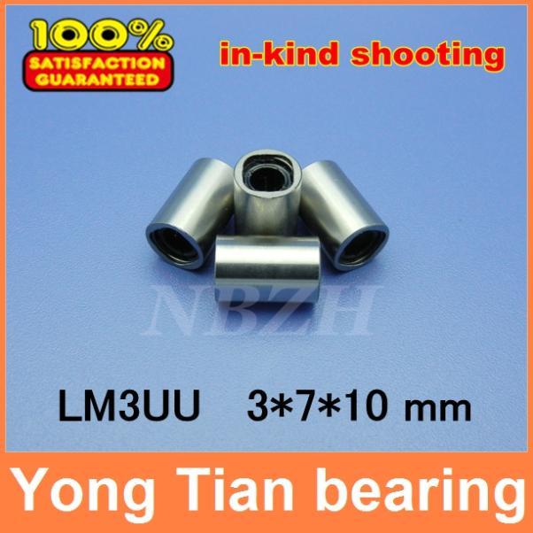 3mm caliber Standard linear bearings LM3 / LM3UU / LB3UU 3*7*10 mm Linear Ball Bearing Bush Bushing lm3uu linear bearings 3mm linear ball bearing bush bushing