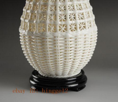 Graži kinų derliaus rankų darbo balta porcelianinė - Namų dekoras - Nuotrauka 6