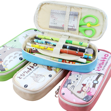 Kawaii Cat Pencil Case Large Capacity Double Layer for School Cute Pencil Box Cases