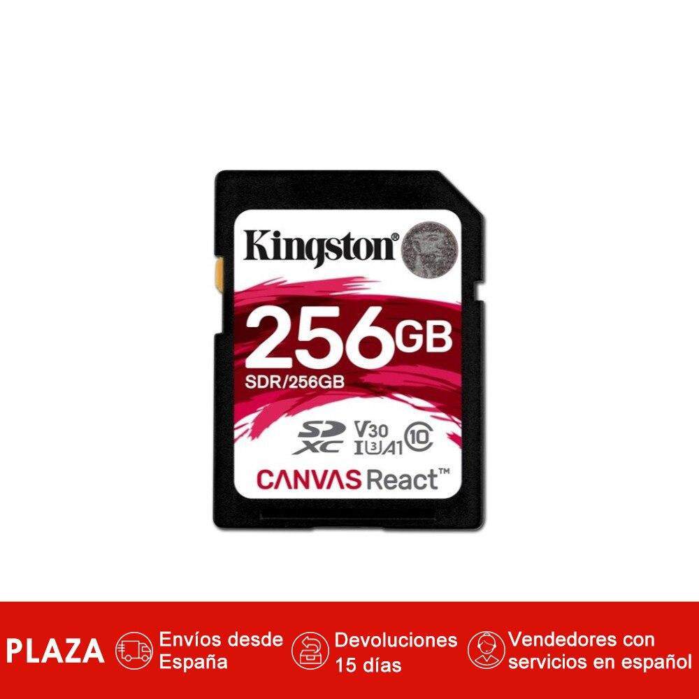 Kingston technologie SD toile réagir, 256 go, SDXC, classe 10, UHS-I, 100 mo/s, noir