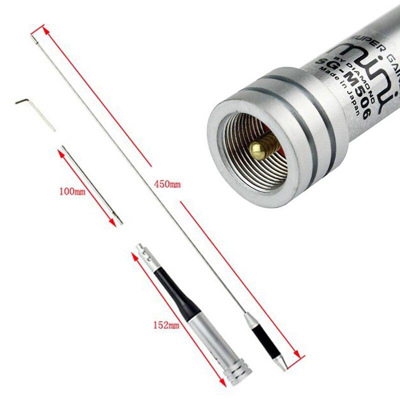 Diamant SG-M506 144/430 mhz Double Bande antenne mobile, double bande antenne de voiture pour radio bidirectionnelle