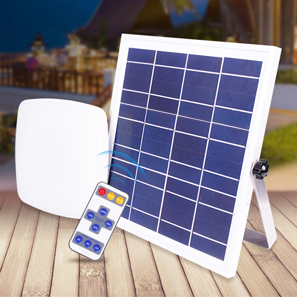 Us 82 1 2 In Pir Motion Sensor Light Remote Control Solar 56 Led 8w Panel Outdoor Home Ceiling Lamp Lamps From