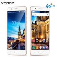 XGODY D18 4G LTE Smartphone Android 6.0 Telefone de 5.5 Polegada Celulars Quad Core 1 GB de RAM + 16 GB ROM 13.0MP GPS Celular Desbloqueado telefones