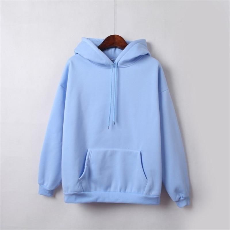 Hooded Tops Women's Sweatshirt Long-Sleeved Winter Velvet Thickening Coat 35