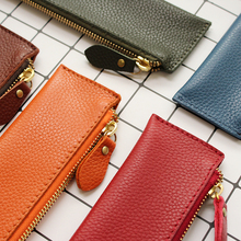 Fromthenon Litchi Grain School Pencil Cases Vintage Zipper Bag High-quality Cowhide Retro Gift Stationery Supplies