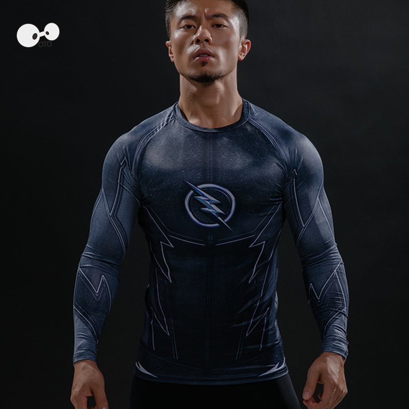 New Fitness Compression Running font b Shirt b font font b Men b font Long Sleeve
