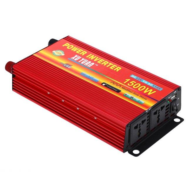 XUYUAN Power Inverter Car Converter Impulsionador Eletrônico Do Carro Porta USB 1500 W DC 12 V AC 110 V com Inteligente Sistema de refrigeração Do Ventilador