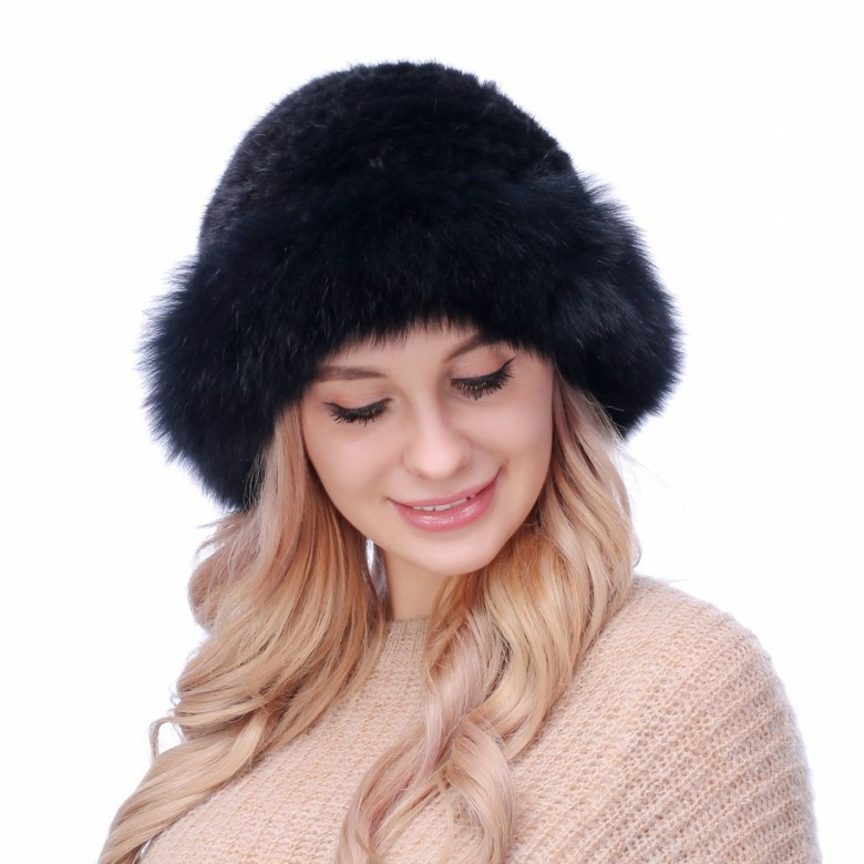 Mink skin hat children warm winter fashion hat fox fur hat brim foreign trade explosion models in europe and america in winter knit hat fashion warm mink mink hat lady ear cap dhy 36