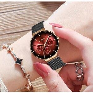 Image 5 - 2019LIGE nowa kobiety oglądać najlepsze marki luksusowe kreatywny Dial kobiety bransoletka zegarek dla pań zegarek Montre Femme Relogio Feminino