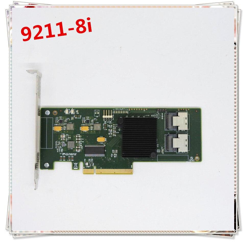Nouveau origina Pour SAS SATA 9211-8i 6 Gbps 8 Ports HBA PCI-E RAID Contrôleur
