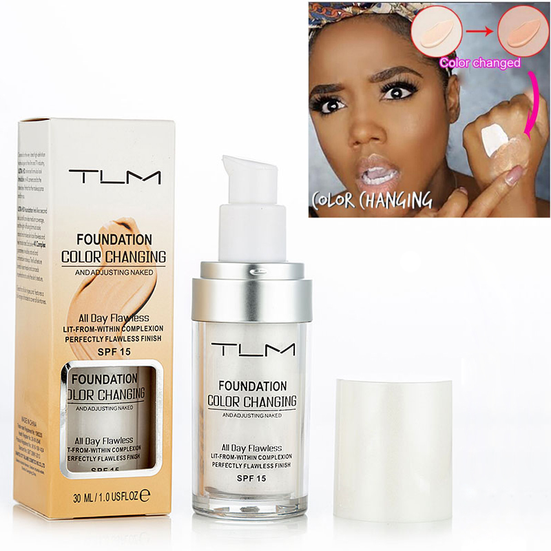 TLM Pro Color Changing Foundation Makeup Base Nude Face Liquid Cover Concealer Longlasting Makeup Sombras Skin Care Foundation
