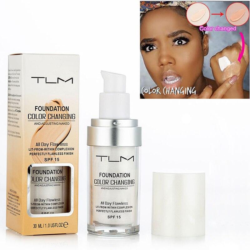 TLM Pro Color Changing Foundation Makeup Base Nude Face Liquid Cover Concealer Longlasting Makeup Sombras Skin Care Foundation