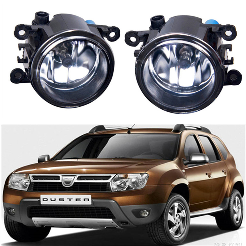 For Renault DUSTER Closed Off-Road Vehicle  2012-2015 car light sources Fog Lamps Car styling Fog Lights Halogen  1SET car styling led fog lights for mitsubishi pajero iv v8 w v9 w closed off road vehicle 2007 2012 fog lamps 10w drl 1set