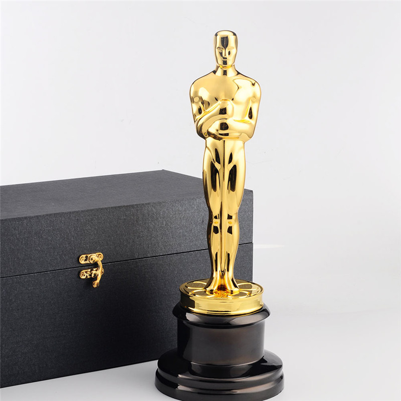 34CM Oscar Trophy Awards Statue With Metal Oscar Trophy Replica Metal Oscar Crafts 1:1 Gold Zinc R85034CM Oscar Trophy Awards Statue With Metal Oscar Trophy Replica Metal Oscar Crafts 1:1 Gold Zinc R850