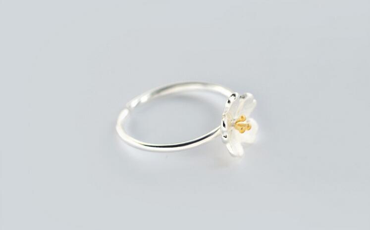 yiustar Új érkezési gyűrűk a nőknek Szép virág nyitott - Divatékszer - Fénykép 4