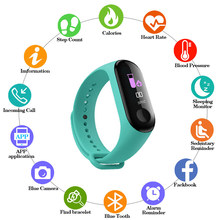 M3 color IPS screen fashion smart sports bracelet IP67 waterproof blood pressure activity tracker for men and women Bluetooth wa(China)