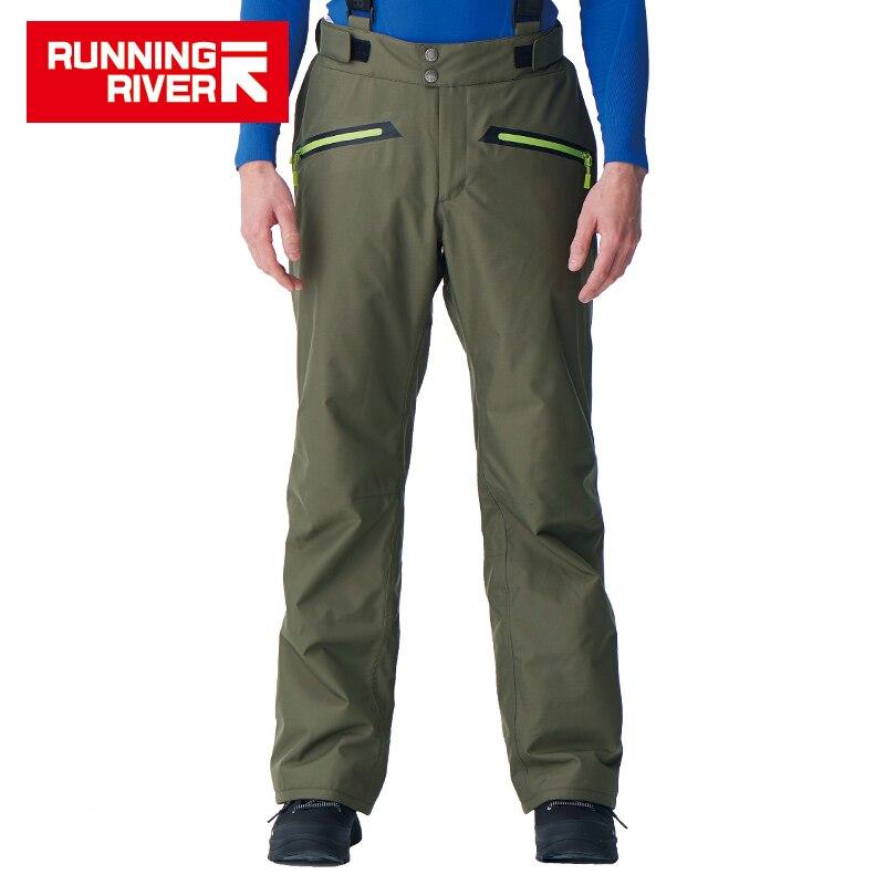 RUNNING RIVER marque hommes pantalons d'hiver avec bretelles 5 couleurs 6 tailles pantalons de neige pour Snowboard pour homme pantalons de sport # B7089