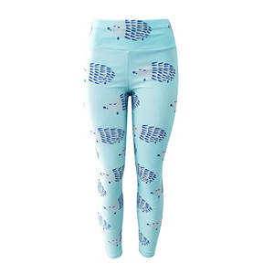 Pants Workout Fitness Leggings Trending-Products Hedgehog-Print Skinny Sports Running