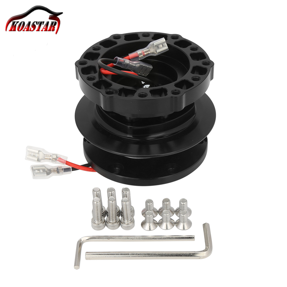 12 Bolts Racing Car Steering Wheel Quick Release Hub Adapter Boss Kit