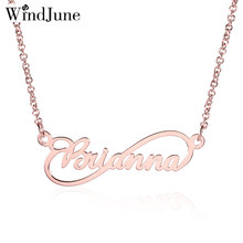 WindJune Custom Name Necklace Women Necklace & Pendant Stainless Steel Personalized NameNecklace Custom Jewelry Gift Wholesale(China)