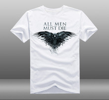 2015 Mens Casual Game of throne All Men Must Die T shirts Print Cotton Short Sleeve