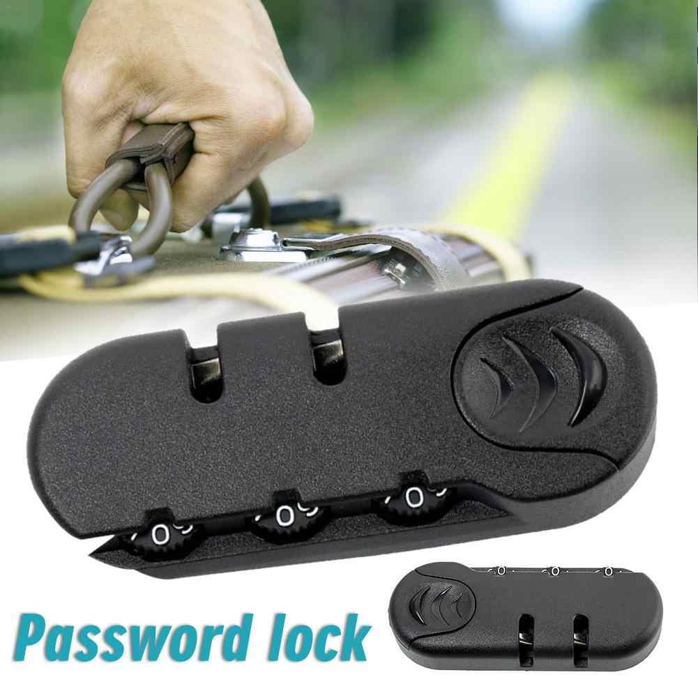 3 kombinacja cyfr kłódka akcesoria do torebek blokada walizka bagażowa torba podróżna zamek szyfrowy czarny zamek szyfrowy 8.3x3.2cm