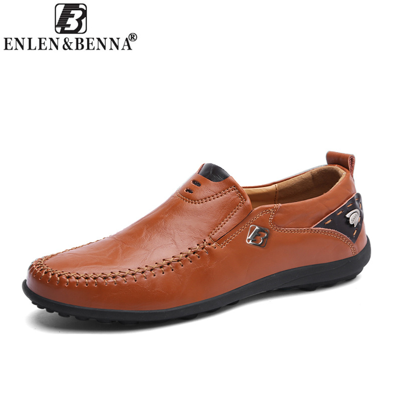 Men's Casual Shoes Comfortable and Breathable Loafers Handmade Moccasins Genuine Leather Slip On Flats Driving Shoes Sapato 8117 cyabmoz 2017 flats new arrival brand casual shoes men genuine leather loafers shoes comfortable handmade moccasins shoes oxfords
