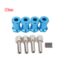 купить 4PCS 1/10 RC Aluminum 20MM Extension Adaptor Hub HEX 12MM for Redcat GEN8 по цене 293.09 рублей
