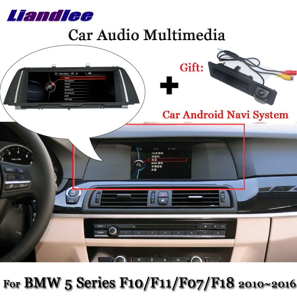 Liandlee Android pour BMW série 5 F10 F11 F07 F18 2010 ~ 2016 stéréo Radio TV Carplay caméra BT AUX GPS Navi Navigation multimédia