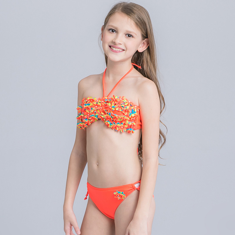Children Swimsuit 2017 Two Pieces Bathing Suit For Girls -4071