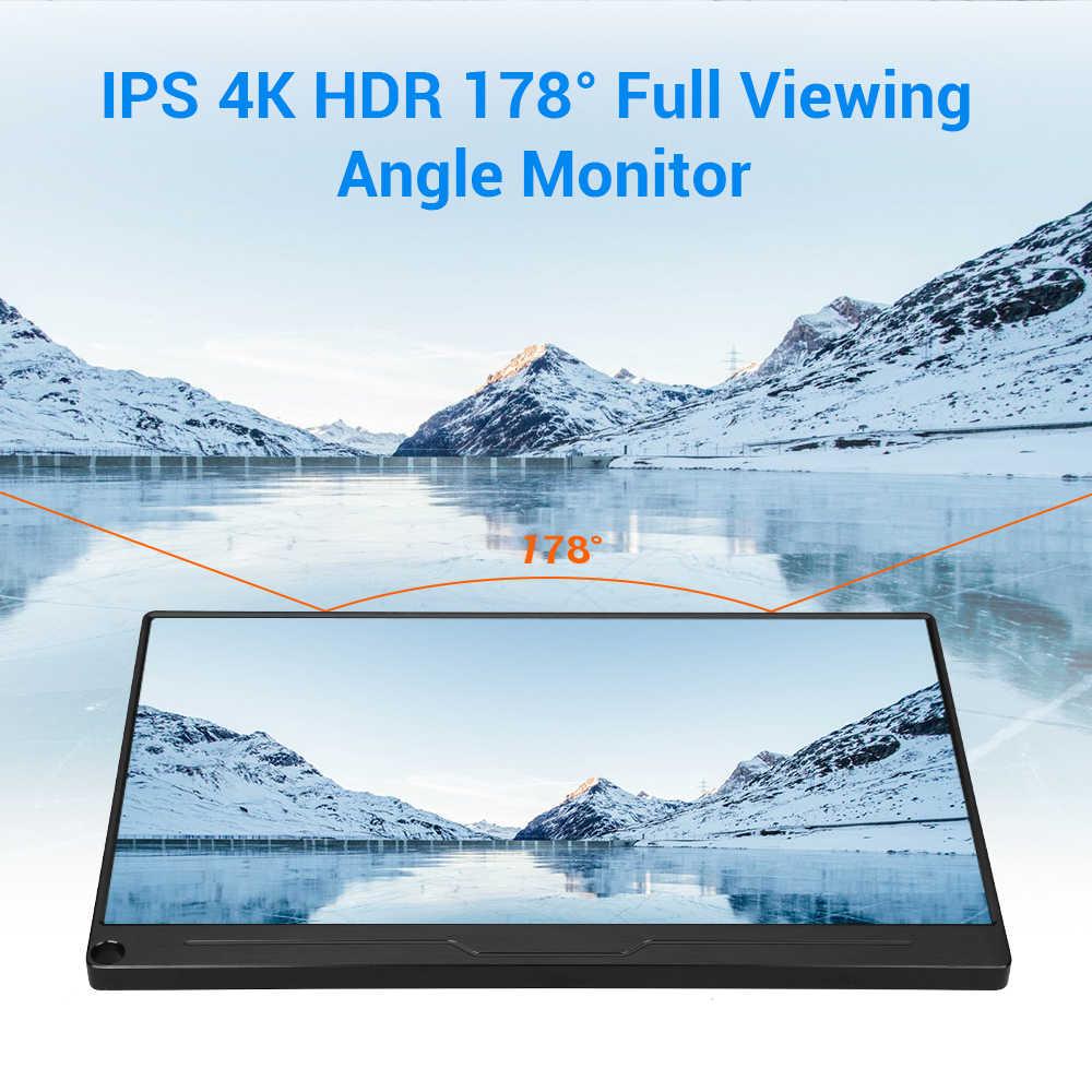 """Eyoyo 13.3 """"FHD 3840x2160 4K IPS monitor gamingowy kompatybilny z konsole do gry PS3 PS4 WiiU Switch Raspberry Mini komputer stancjonarny"""