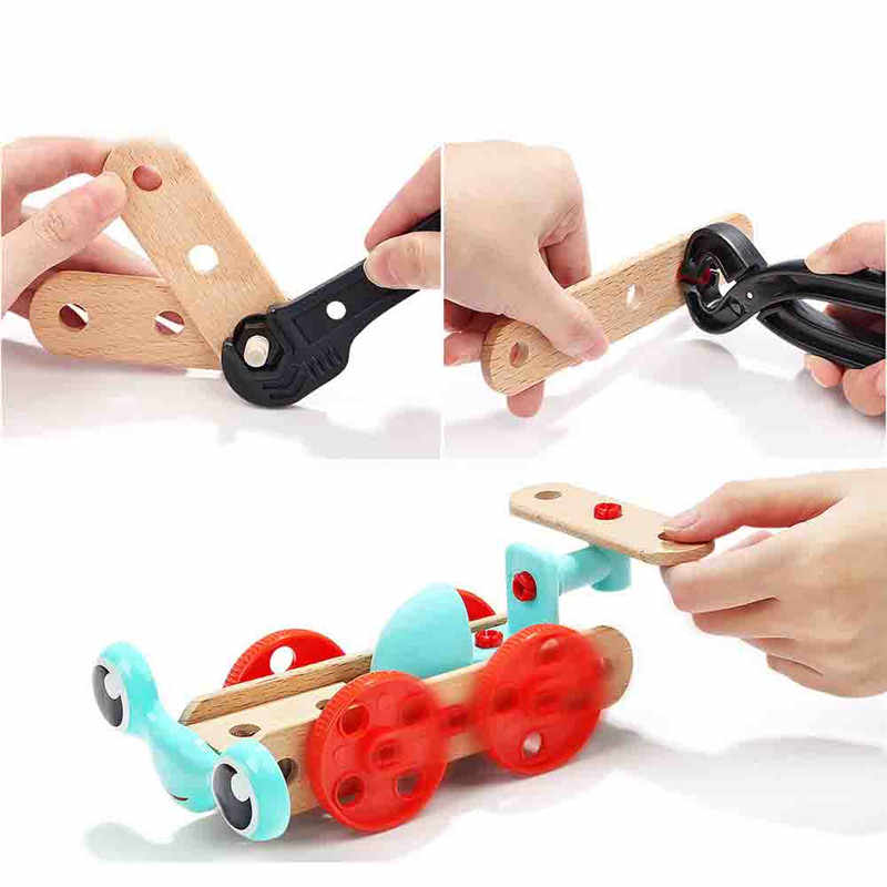 Обучающая игрушка набор Детская комбинация разборка набор инструментов деревянные детские игрушки Разнообразие формы Винт многофункциональный инструмент для ремонта игрушка