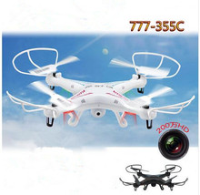 rc drone 777-355C with HD aerial Camera 2.4G 4CH 6 axis RC quadcopter drone Rmonte control drone headless mode one key retrurn