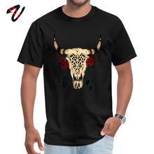 Tops Shirts Bull Skull VALENTINE DAY Latest Printed Short Sherlock Holmes Gothic Round Collar Men Tshirts