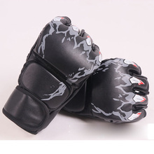 Thickened Women Men Boxing Gloves Half Finger MMA  Sanda Punching Professional Combat Muay Thai kick Boxing Gloves Q