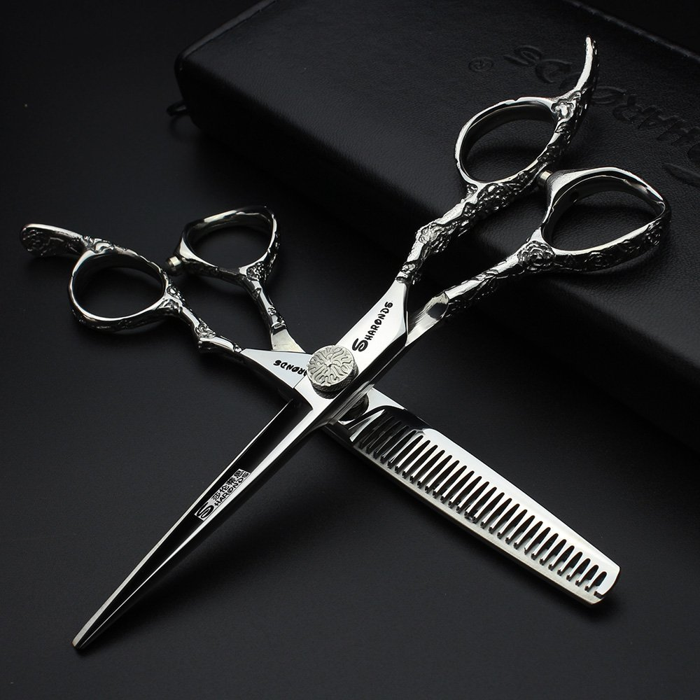 7 Inch Hairdressing Scissors Professional Hair Scissors 6.0 440c Barber Shears Hair Cutting High Quality Tijeras Scissors Set