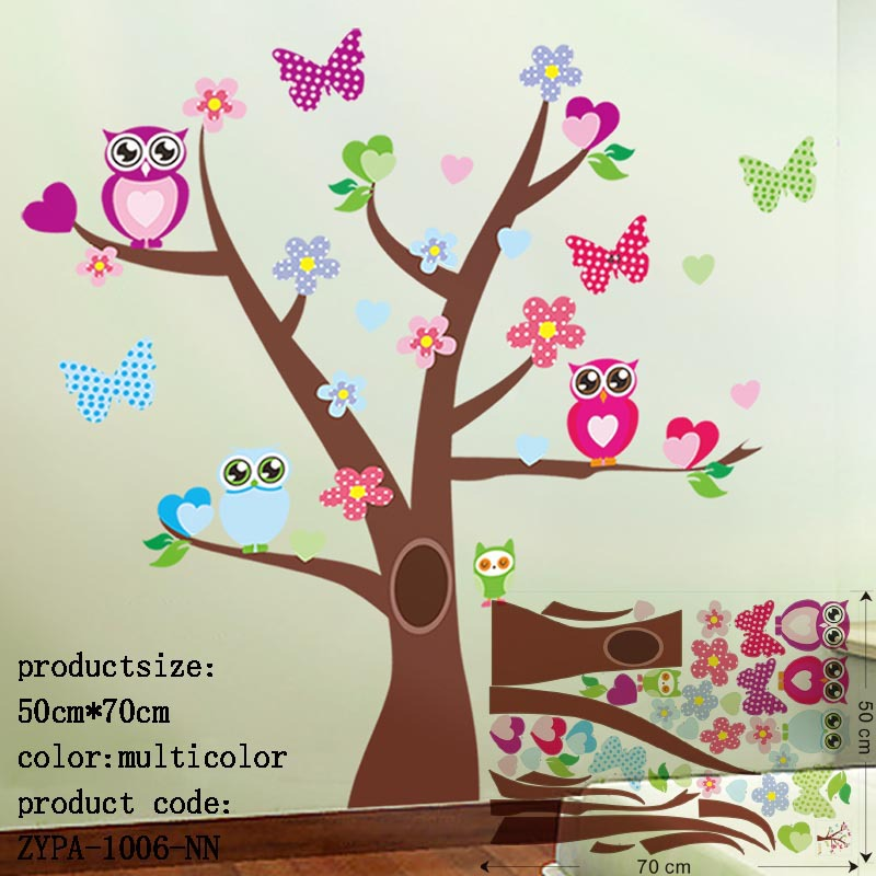 Owl Wall Stickers For Kids Room Decorations Animal Decals Bedroom Nursery  Removable Tree Wall Art Children Stikcer Zooyoo1006 Part 90