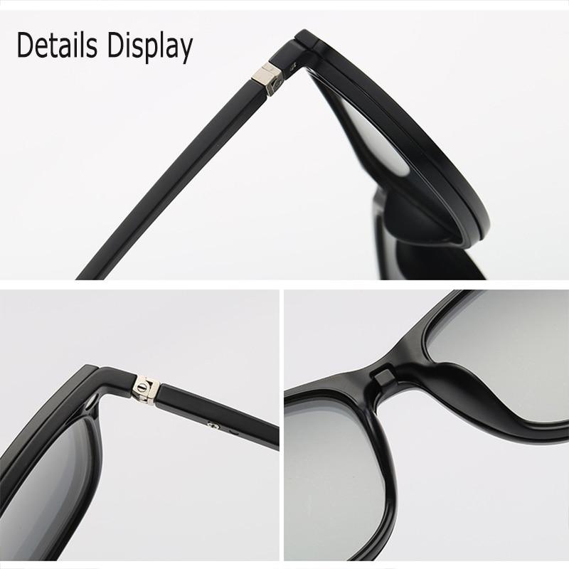 Optische Brillengestell Männer Frauen Mit 3 Polarisierten 3D Clip - Bekleidungszubehör - Foto 5