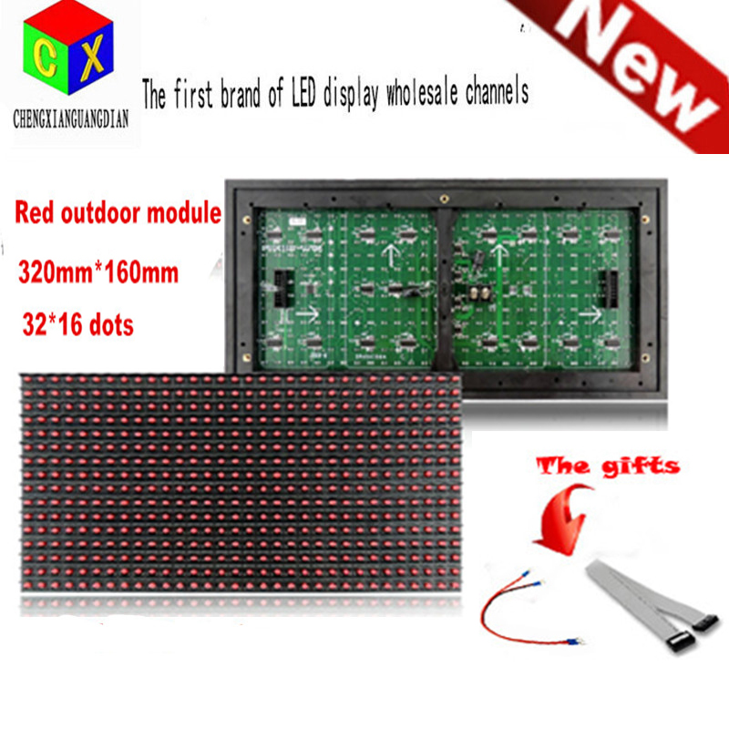 Red Outdoor  LED Display Module Panel Window Sign Shop Sign P10 32X16 Matrix Programmable