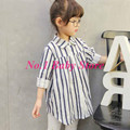New arrival children's clothing,100% cotton child stripe long-sleeve shirt ,100% cotton,Free shipping girls Shirt!