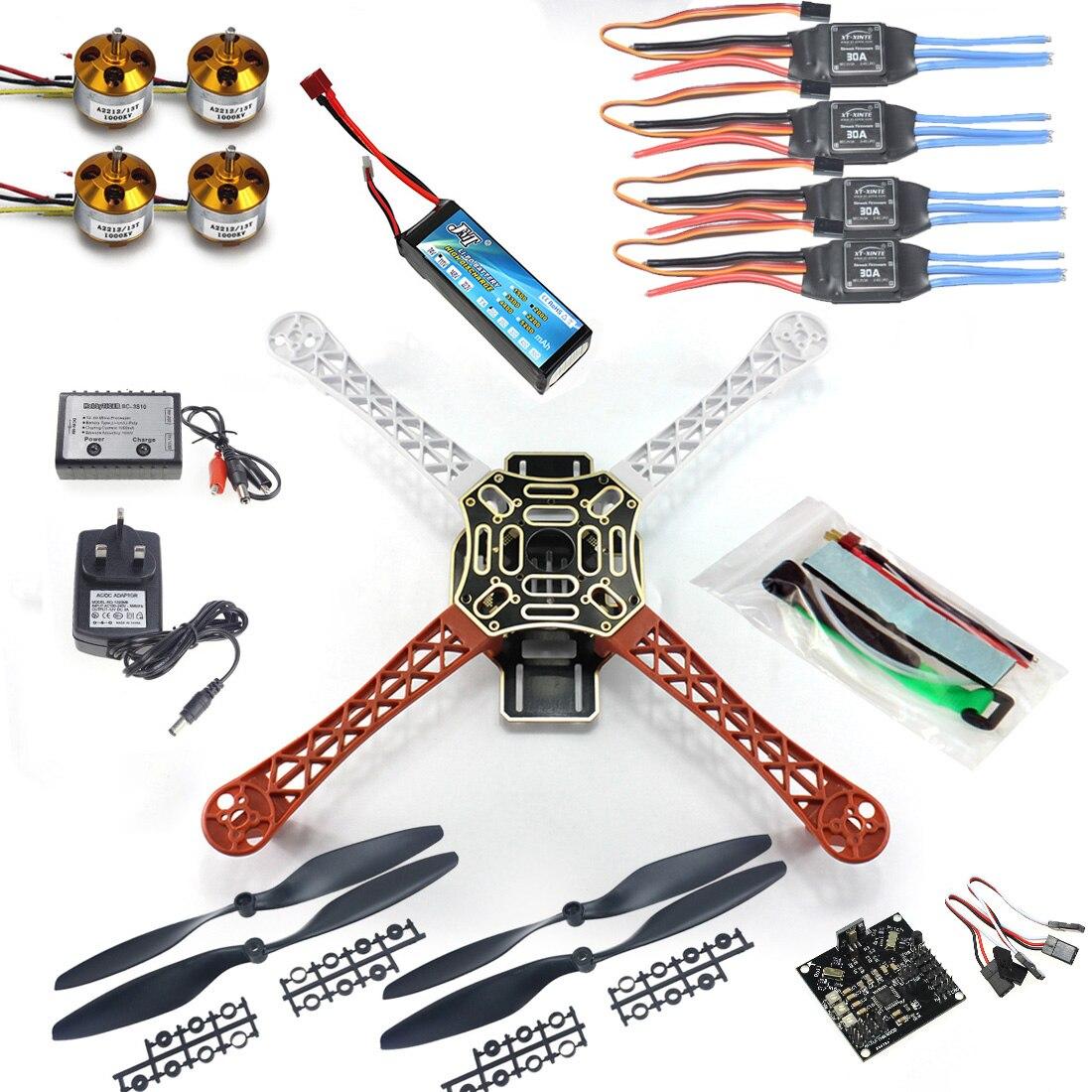F02192-B RC Quadcopter 4 axle Drone ARF Kit No TX RX : KK V2.3 Flight Control A2212 1000KV Motor 30A ESC Lipo F450 Flamewheel Fs diy 4 axle rc multi quadcopter drone with kk v2 3 circuit board 1000kv motor 30a esc f450 frame kit radiolink t8fb 8ch tx