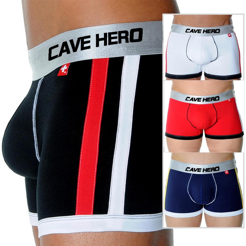 Andrew Push Up Pouch Men Cotton Widen Waistband Male Panties Modal Christian boxer men Pocket Cup front cueca boxer