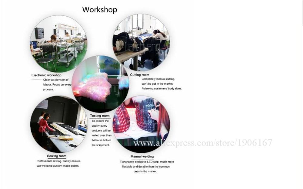 Full Color Fiber optic jumpsuits, vest with big hat, gloves, shoes cover04