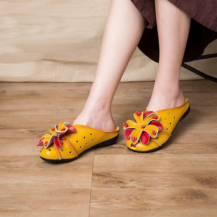 Suaves Zfl 2017 Nuevos Al Zapatos red 665 Black Flores Planos Guisantes Mamá Pequeñas Final Mujer Cuero yellow Flores De Casuales Los gray qXaSnpX