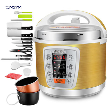 Multi-Use Smart booking Pressure slow cooking pot Cooker 900W Stainless Steel Electric Pressure Cooker Y502S 5L dual-gallon rice 4