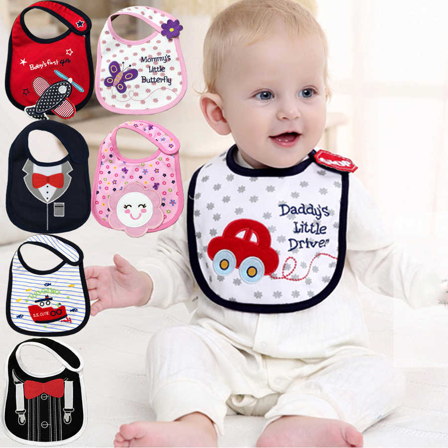 100% Cotton Baby Bibs Waterproof Bandana Baby Girls boys Bibs & Burp Cloths Baby Clothing Product Towel Bandanas Wholesale DS19