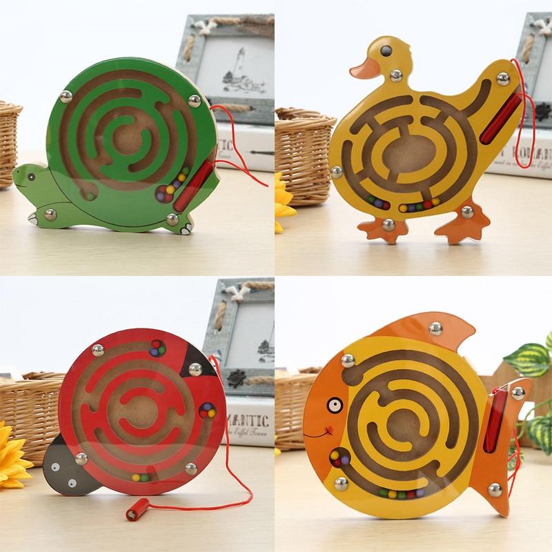 Kids Wooden Puzzle Toy Color Jigsaw Board Children Magination Intellectual Toys Kids Children Gift Cartoon Animals N3