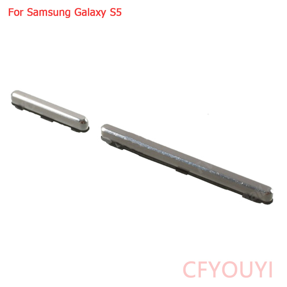 OEM For Samsung Galaxy S5 G900 Power Button And Volume Button Spare Part Silver Color
